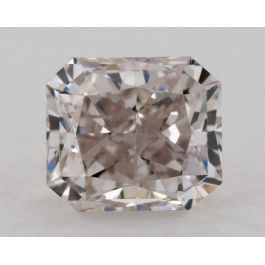 0.51 Carat, Natural Light Pinkish Brown, Radiant Shape, SI2 Clarity, GIA