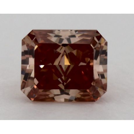 0.35 Carat, Natural Fancy Deep Brownish Orangy Pink, Radiant Shape, VS1 Clarity, GIA