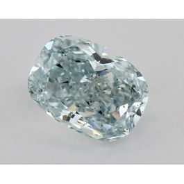 1.30 Carat, Natural Fancy Green-Blue, SI2 Clarity, Cushion, GIA