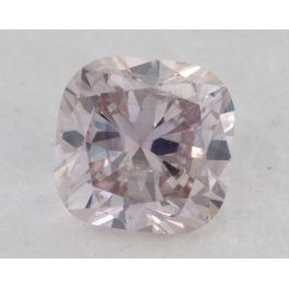 0.20 Carat, Natural Light Pink, Cushion Shape, I1 Clarity, GIA, W1490