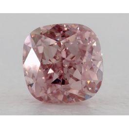 0.53 Carat, Fancy Intense Pink, VS1 Clarity, Cushion, GIA