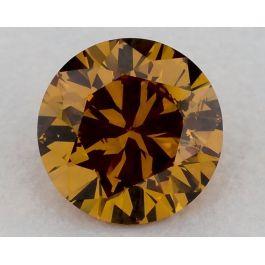 1.01 Carat, Fancy Deep Yellowish Orange, SI2, Round, GIA