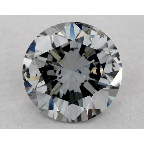 1.70 Carat, Natural Fancy Blue-Gray, Round Shape, I1, GIA
