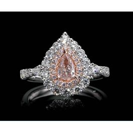 1.57 Carat, Ring with Fancy Light Pink Diamond, GIA