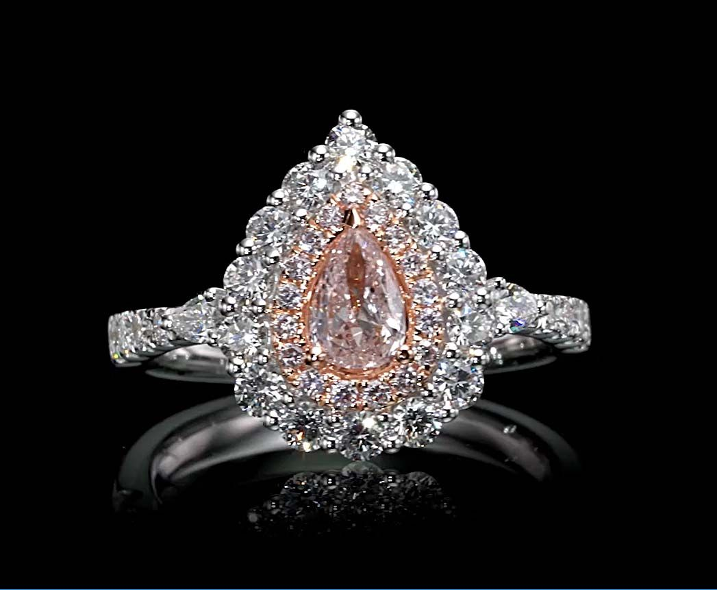 0.40 Carat, Ring with Fancy Light Pink Diamond, GIA