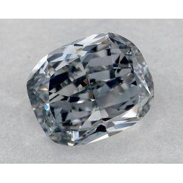 1.01 Carat, Fancy Grayish Blue, Cushion, VS1 Clarity, GIA