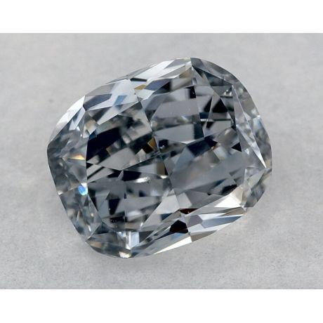 1.01 Carat, Fancy Grayish Blue, Cushion, VS1 Clarity, GIA