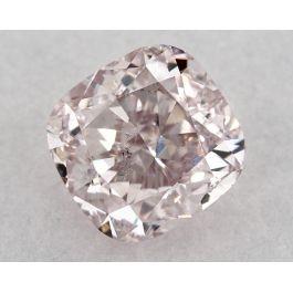 1.66 Carat, Fancy Light Pink, SI2 Clarity, Cushion, GIA