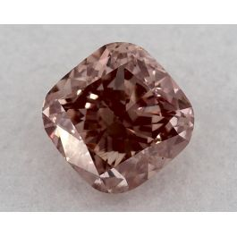 0.62 Carat, Fancy Orangy Pink, VS2 Clarity, Cushion, GIA