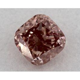 0.62 Carat, Fancy Orangy Pink, VS2 Clarity, Cushion, GIA
