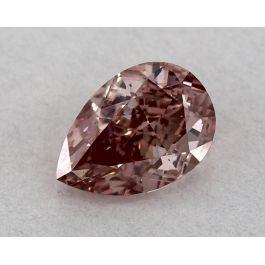 0.61 Carat, Fancy Intense Pink, VS2Clarity, Pear shape, GIA