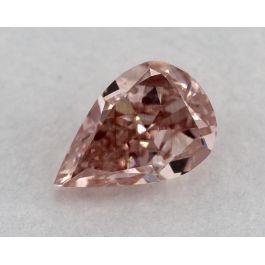 0.40 Carat, Fancy Intense Orangy Pink, VS1 Clarity, Pear shape, GIA