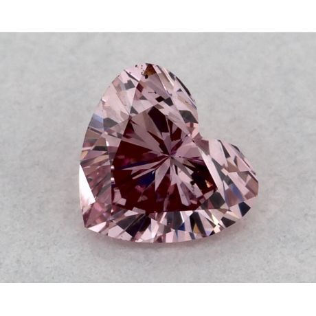 0.15 Carat, ARGYLE, Natural Fancy Intense Purplish Pink, Heartshape, VS2, GIA