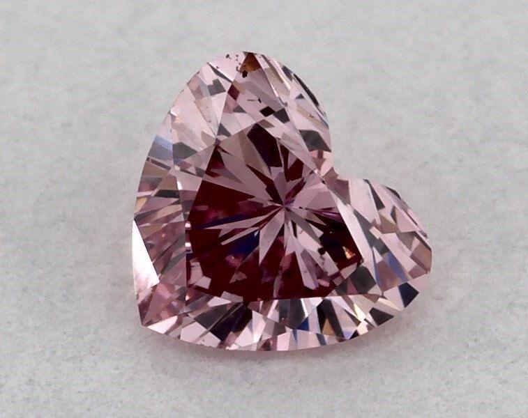 0.15 Carat, ARGYLE, Natural Fancy Intense Purplish Pink, Heartshape, VS2, GIA
