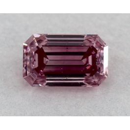0.16 Carat, ARGYLE, Natural Fancy Intense Purplish Pink, Emerald Cut, VS2, GIA