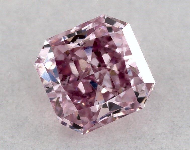 0.17 Carat, ARGYLE, Natural Fancy Intense Purplish Pink, Radiant Shape, VS2 clarity, GIA