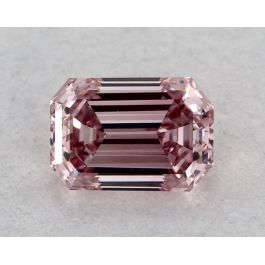 0.20 Carat, ARGYLE, Natural Fancy Intense Pink, Emerald Cut, VS1 Clarity, GIA
