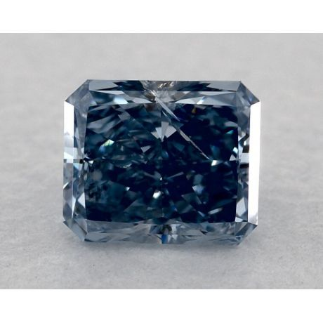 0.51 Carat, Natural Fancy Intense Blue, Radiant Shape, SI2 clarity, GIA
