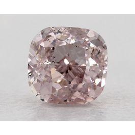 1.00 Carat, Natural Fancy Light Pink, Cushion Shape, SI2 Clarity, GIA