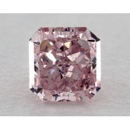 0.89 Carat, Natural Fancy Intense Purplish Pink, Radiant Shape, SI2 Clarity, GIA