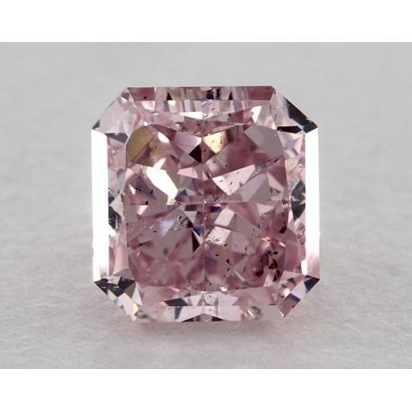 0.89 Carat, Natural Fancy Intense Purplish Pink, Radiant Shape, SI2 Clarity, GIA