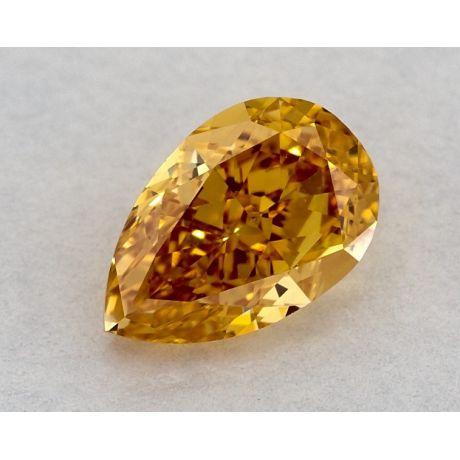 0.58 Carat, Natural Fancy Vivid Yellow-Orange, Pear Shape, SI1 Clarity, GIA