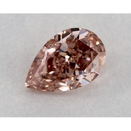 1.55 Carat, Natural Fancy Intense Orangy Pink, Pear Shape, SI2 Clarity, GIA