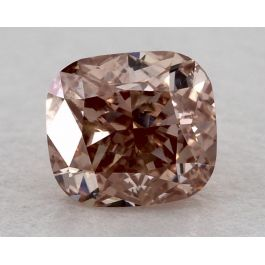 0.51 Carat, Natural Fancy Orangy Pink, Cushion Shape, VS2 Clarity, GIA