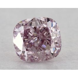 0.56 Carat, Natural Fancy Pinkish Purple, Cushion Shape, VS2 Clarity, GIA