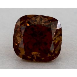 1.55 Carat, Natural Fancy Deep Brown-Orange, Cushion Shape, VS2 Clarity, GIA
