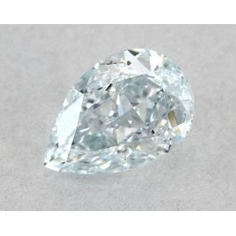 0.50 Carat, Natural Fancy Light Bluish Green, Pear Shape, VS2 Clarity, GIA