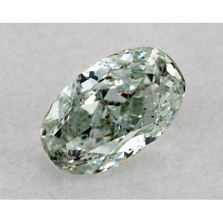 1.00 Carat, Natural Fancy Green, Oval Shape, I1 Clarity, GIA