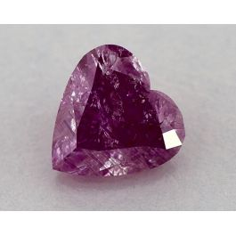 1.50 Carat, Natural Fancy Intense Pink-Purple, Heart Shape, GIA