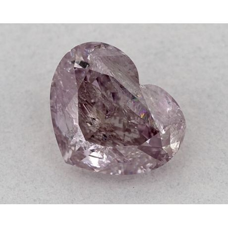 1.05 Carat, Natural Fancy Purple-Pink, Heart Shape, GIA