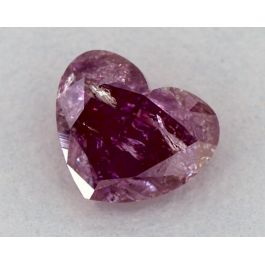 0.83 Carat, Natural Fancy Deep Purple-Pink, Heart Shape, GIA