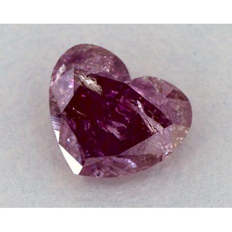 0.83 Carat, Natural Fancy Deep Purple-Pink, Heart Shape, GIA
