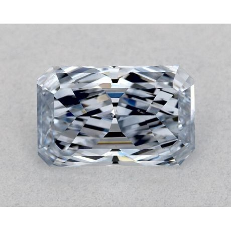 0.61 Carat, Natural Fancy Blue, Radiant Shape, SI2 Clarity, GIA