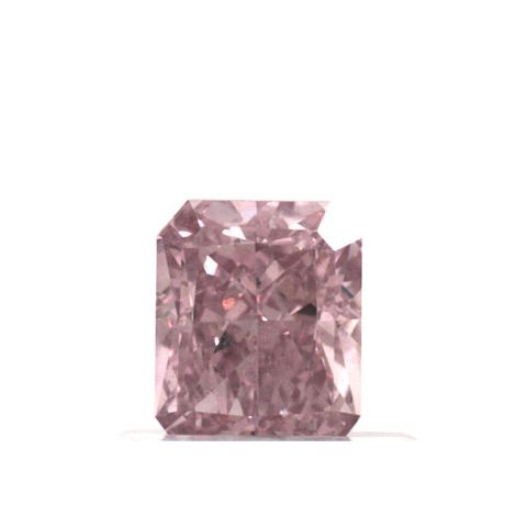 0.65 Carat, Natural Fancy Intense Pink, Radiant Shape, VS2 Clarity, GIA