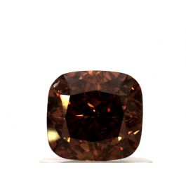 1.01 Carat, Natural Fancy Deep Yellowish Orange, Cushion Shape, SI2 Clarity, GIA