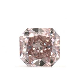 0.60 Carat, Natural Fancy Orangy Pink, Radiant Shape, VS2 Clarity, GIA