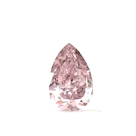0.72 Carat, Natural Fancy Intense Pink, Pear Shape, SI2 Clarity, GIA