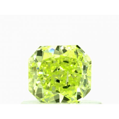 0.61 Carat, Natural Fancy Intense Yellow-Green, Radiant Shape, SI2 Clarity, GIA