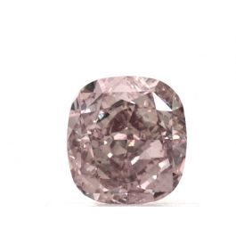 0.75 Carat, Natural Fancy Orangy Pink, Cushion Shape, VS1 Clarity, GIA