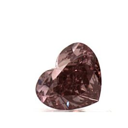 0.57 Carat, Natural Fancy Deep Orangy Pink, Heart Shape, VS2 Clarity, GIA