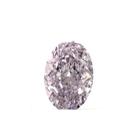 0.58 Carat, Natural Fancy Pink-Purple, Oval Shape, VS2 Clarity, GIA