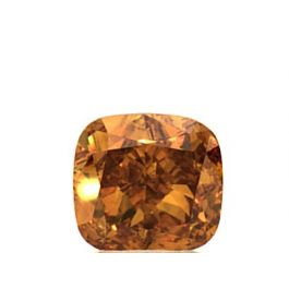 0.76 Carat, Natural Fancy Deep Yellowish Orange, Cushion Shape, SI1 Clarity, GIA