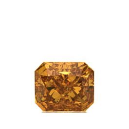 0.51 Carat, Natural Fancy Vivid Yellowish Orange, Radiant Shape, SI2 Clarity, GIA