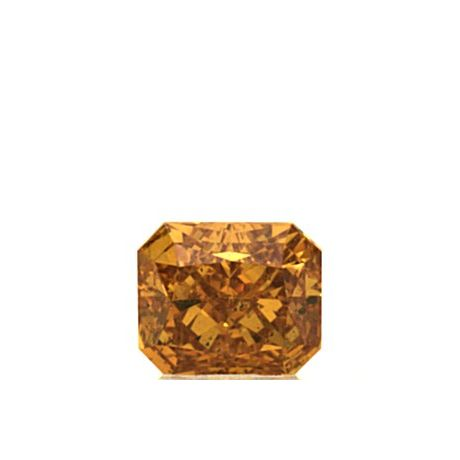 0.51 Carat, Natural Fancy Vivid Yellowish Orange, Radiant Shape, SI2 Clarity, GIA