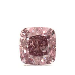 0.51 Carat, Natural Fancy Intense Pink, Cushion Shape, VS2 Clarity, GIA