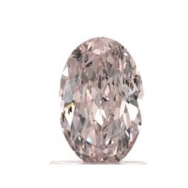 1.19 Carat, Natural Fancy Light Pink, I1 Clarity, Oval Shape, GIA